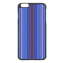 Colorful Stripes Apple iPhone 6 Plus/6S Plus Black Enamel Case