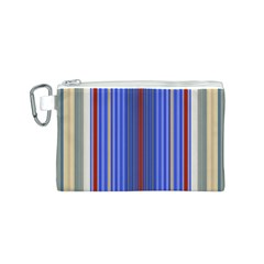 Colorful Stripes Canvas Cosmetic Bag (S)