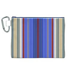 Colorful Stripes Canvas Cosmetic Bag (XL)