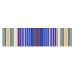Colorful Stripes Satin Scarf (Oblong)
