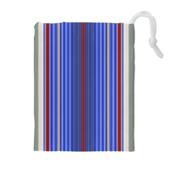Colorful Stripes Drawstring Pouches (extra Large)