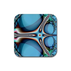 Fractal Beauty Rubber Coaster (Square)