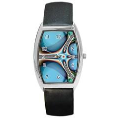 Fractal Beauty Barrel Style Metal Watch