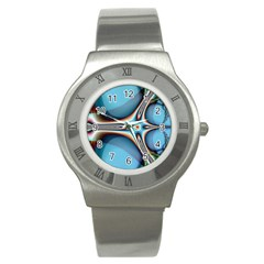 Fractal Beauty Stainless Steel Watch