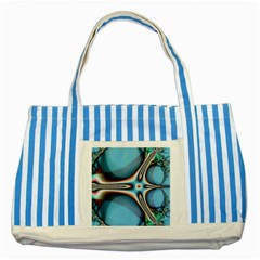 Fractal Beauty Striped Blue Tote Bag