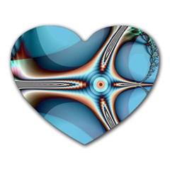 Fractal Beauty Heart Mousepads