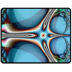 Fractal Beauty Double Sided Fleece Blanket (Medium)