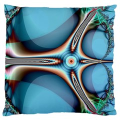 Fractal Beauty Large Flano Cushion Case (One Side)