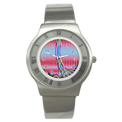 Fractal Tree Stainless Steel Watch