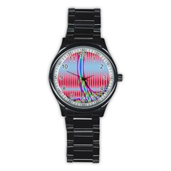 Fractal Tree Stainless Steel Round Watch