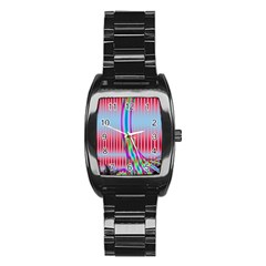 Fractal Tree Stainless Steel Barrel Watch
