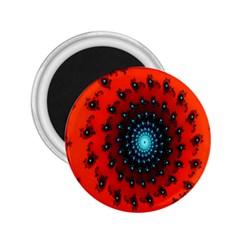 Red Fractal Spiral 2.25  Magnets