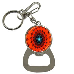 Red Fractal Spiral Button Necklaces