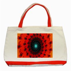 Red Fractal Spiral Classic Tote Bag (Red)