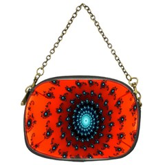 Red Fractal Spiral Chain Purses (One Side)