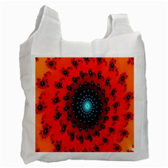 Red Fractal Spiral Recycle Bag (One Side)