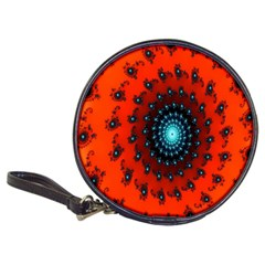 Red Fractal Spiral Classic 20 Cd Wallets