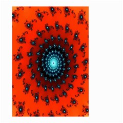 Red Fractal Spiral Small Garden Flag (Two Sides)
