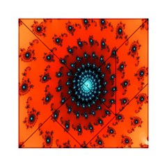 Red Fractal Spiral Acrylic Tangram Puzzle (6  X 6 )