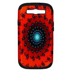 Red Fractal Spiral Samsung Galaxy S III Hardshell Case (PC+Silicone)