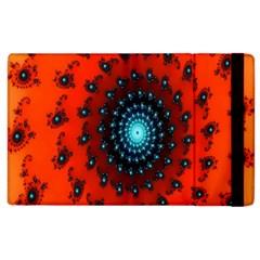 Red Fractal Spiral Apple Ipad 3/4 Flip Case