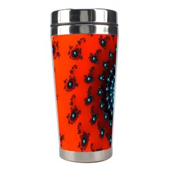Red Fractal Spiral Stainless Steel Travel Tumblers