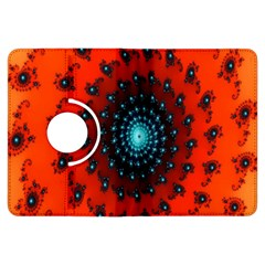 Red Fractal Spiral Kindle Fire HDX Flip 360 Case