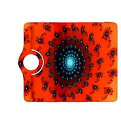 Red Fractal Spiral Kindle Fire HDX 8.9  Flip 360 Case