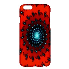 Red Fractal Spiral Apple iPhone 6 Plus/6S Plus Hardshell Case