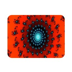 Red Fractal Spiral Double Sided Flano Blanket (Mini)