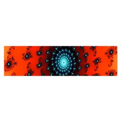 Red Fractal Spiral Satin Scarf (oblong)