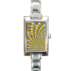 Fractal Spiral Rectangle Italian Charm Watch