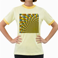 Fractal Spiral Women s Fitted Ringer T-Shirts