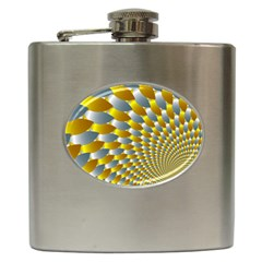Fractal Spiral Hip Flask (6 oz)
