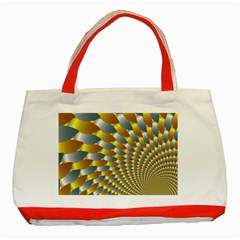 Fractal Spiral Classic Tote Bag (Red)