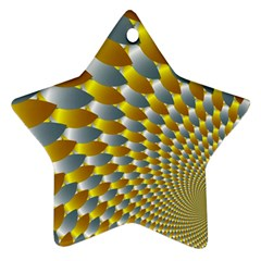 Fractal Spiral Star Ornament (Two Sides)