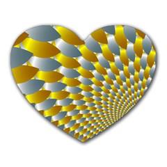 Fractal Spiral Heart Mousepads