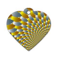Fractal Spiral Dog Tag Heart (one Side)