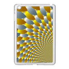 Fractal Spiral Apple iPad Mini Case (White)