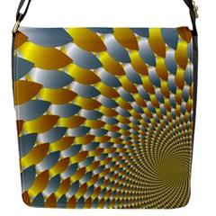 Fractal Spiral Flap Messenger Bag (S)