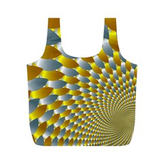 Fractal Spiral Full Print Recycle Bags (M)
