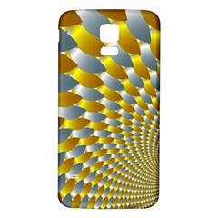 Fractal Spiral Samsung Galaxy S5 Back Case (White)