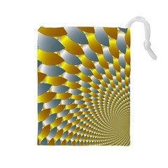 Fractal Spiral Drawstring Pouches (Large)