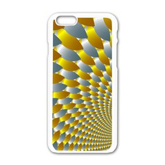 Fractal Spiral Apple iPhone 6/6S White Enamel Case