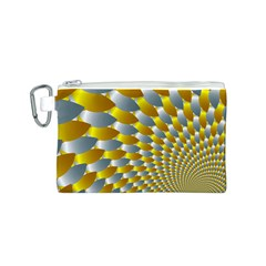 Fractal Spiral Canvas Cosmetic Bag (S)