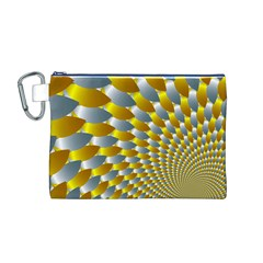 Fractal Spiral Canvas Cosmetic Bag (M)