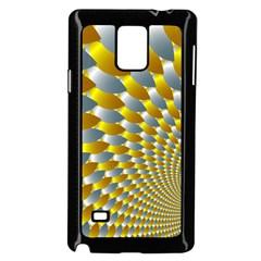 Fractal Spiral Samsung Galaxy Note 4 Case (black)
