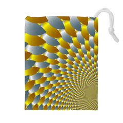Fractal Spiral Drawstring Pouches (extra Large)