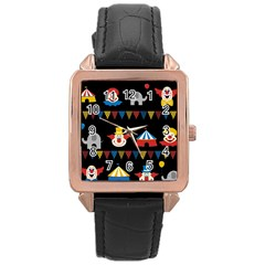 Circus  Rose Gold Leather Watch