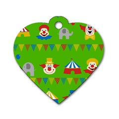 Circus Dog Tag Heart (Two Sides)